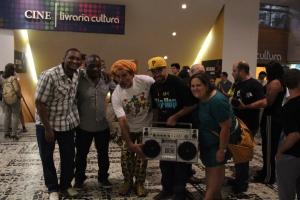 Dj Duh, Pop Black, Nelson Triunfo, Renan Inquérito e Jéssica Balbino (foto: Marcos Elias)
